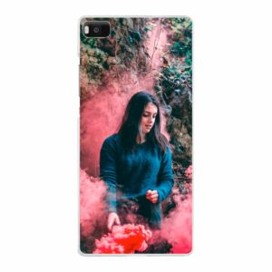 Huawei P8 Lite (2015) Hard case (back printed, transparent)