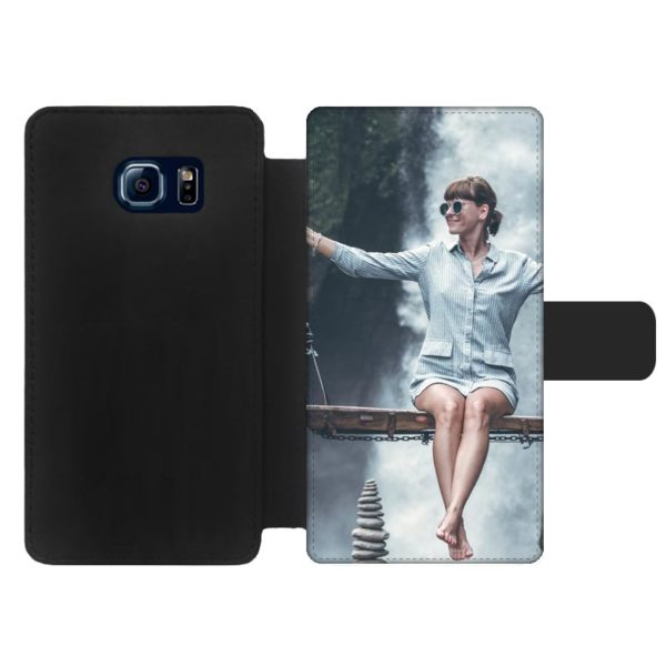 Samsung Galaxy S6 Edge Wallet case (front printed)
