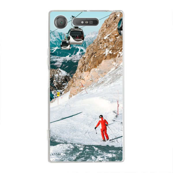 Sony Xperia XZ1 Soft case (back printed, transparent)