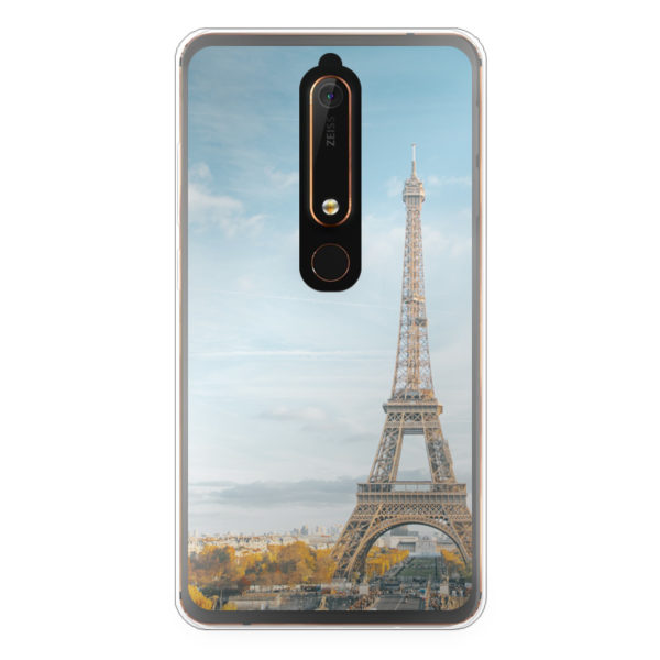 Nokia 6 (2018) Soft case (back printed, transparent)