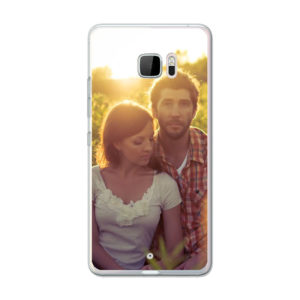HTC U Ultra Soft case (back printed, transparent)