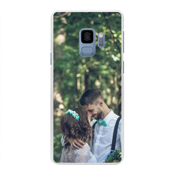 Samsung Galaxy S9 Hard case (back printed, white)