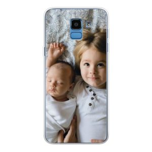 Samsung Galaxy J6 (2018) Soft case (back printed, transparent)