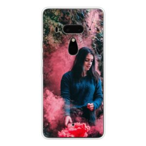 HTC U12+ Soft case (back printed, transparent)
