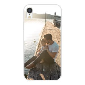Apple iPhone Xr Soft case (back printed, white)