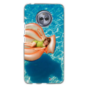 Motorola Moto X4 Soft case (back printed, transparent)