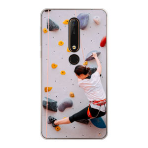 Nokia X6 (2018) Soft case (back printed, transparent)