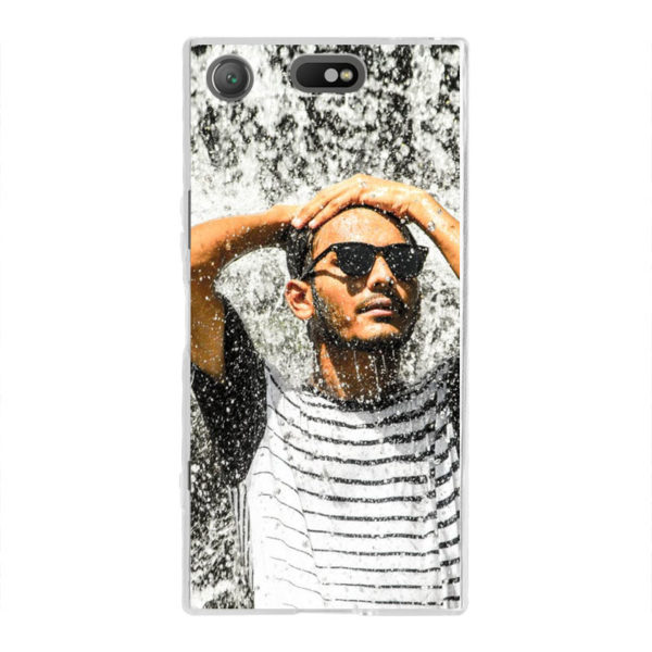 Sony Xperia XZ1 Compact Soft case (back printed, transparent)