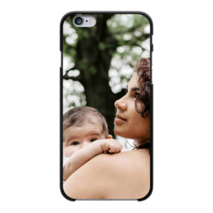 Apple iPhone 6/6s Hard case (back printed, black)
