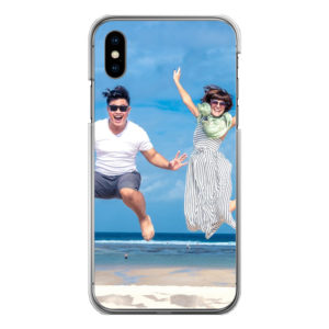 Apple iPhone X/Xs Hard case (back printed, transparent)