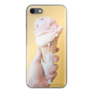 Apple iPhone 7/8/SE (2020) Soft case (back printed, transparent)