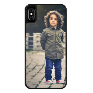Apple iPhone X/Xs Hard case (back printed, black)