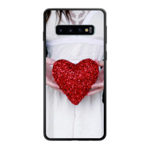 Samsung Galaxy S10 Soft case (back printed, black)