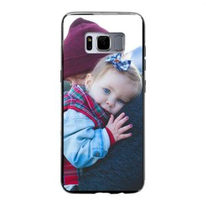Samsung Galaxy S8 Soft case (back printed, black)