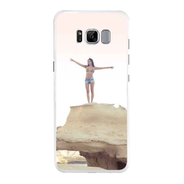 Samsung Galaxy S8 Hard case (back printed, white)
