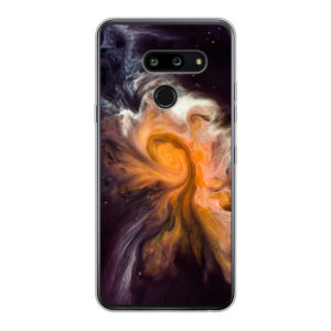 LG G8 ThinQ Soft case (back printed, transparent)