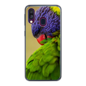 Samsung Galaxy A40 Soft Case (back printed, transparent)