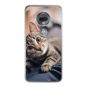 Motorola Moto G7 Soft case (back printed, transparent)