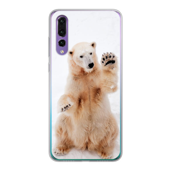 Huawei P30 Soft case (back printed, transparent)