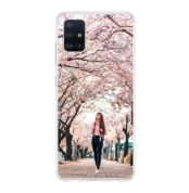 Samsung Galaxy A51 Soft case (back printed, transparent)