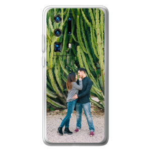 Huawei P40 Pro Plus soft case (back printed, transparent)