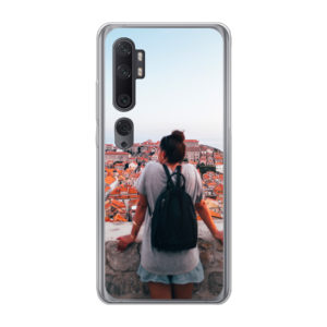 Xiaomi Mi Note 10 soft case (back printed, transparent)