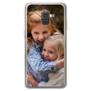 Samsung Galaxy A8 (2018) soft case (back printed, transparent)