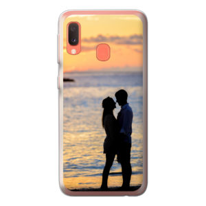 Samsung Galaxy A20e soft case (back printed, transparent)