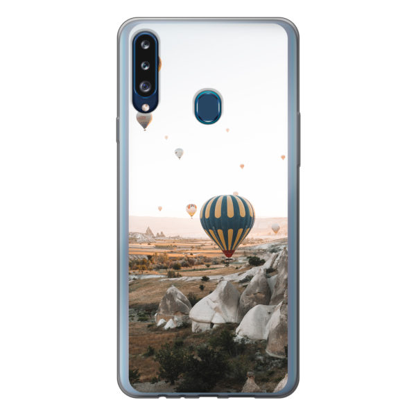 Samsung Galaxy A20s soft case (back printed, transparent)