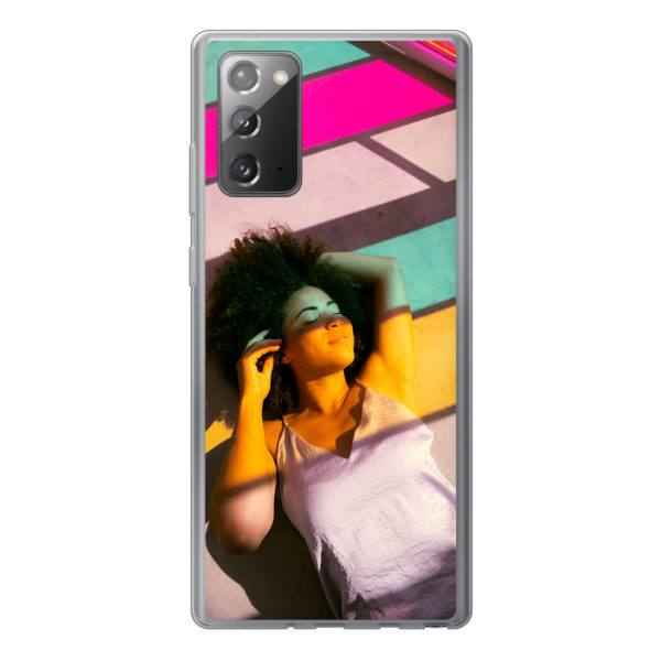 Samsung Galaxy Note 20 / Galaxy Note 20 5G Soft case (back printed, transparent)
