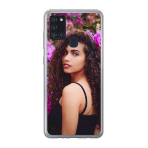 Samsung Galaxy A21s Soft case (back printed, transparent)